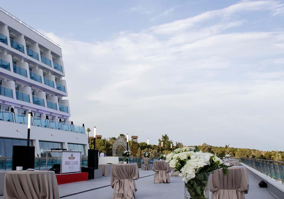 Terraza Grand Luxor Hotel Organización De Eventos Iberia